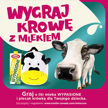 Win a cow with milk
