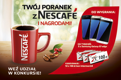 Your morning with the Nescafe and the prizes!